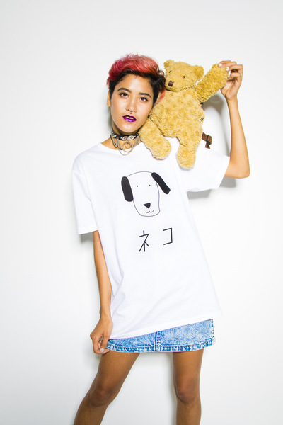 Junko Komada MAKE UP& HAIR - ヴィレッジヴァンガード うそT village vanguard lie T-shirts