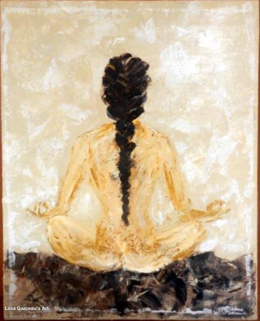 Bespoke Art by Liisa Garceau - Meditation Acrylic on canvas.