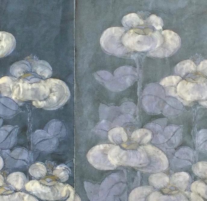 DIANA DAYMOND ART AND DESIGN - CLOUD FLOWER FIELD DETAIL