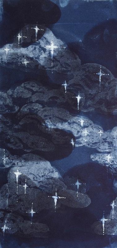 DIANA DAYMOND ART AND DESIGN - STARRY INDIGO NIGHT