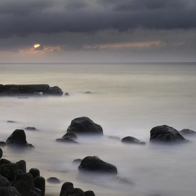 Sea at sunrise in Atagawa, Shizuoka Prefecture, Japan