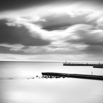 Enoshima pier and clouded sky, Kanagawa Prefecture, Japan