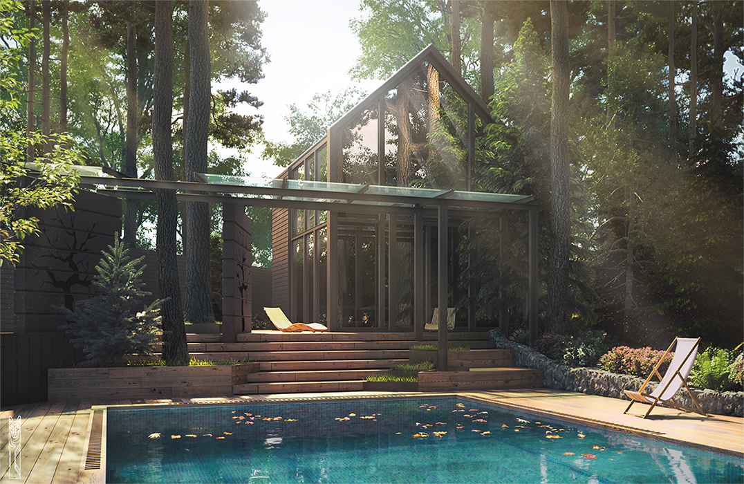 3D_feel - Cottage in pines